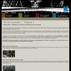 Musée départemental de Toulouse, pages sur les réfugiés républicains