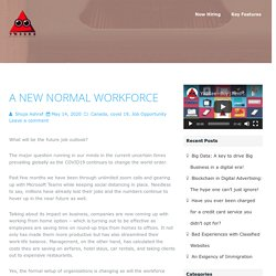 Yo2See Blog - A New Normal Workforce