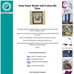 Yoda Free Paper Model from www.ss42.com