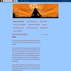 Yoga: ASANA (POSTURE)