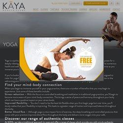 Yoga for Beginners at Kaya Health Clubs