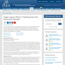 Yoga Lesson Plans – Yoga Class Plan
