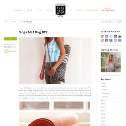 Yoga Mat Bag DIY