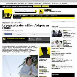 Le yoga: plus d'un million d'adeptes en France