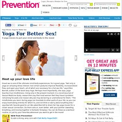 Yoga for Better Sex