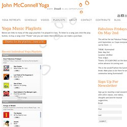 Yoga Playlists, Yoga Music Playlist