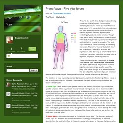 Yoga: Prana Vayu – Five vital forces