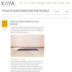 Yoga Studios around the world