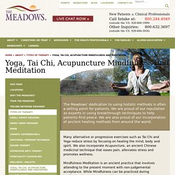 Yoga and Tai Chi Therapy