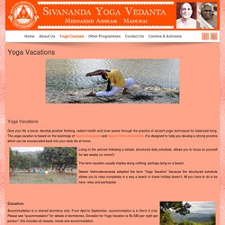 Yoga Vacations