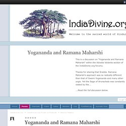 Yogananda and Ramana Maharshi