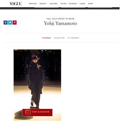 Yohji Yamamoto Fall 2015 Ready-to-Wear Collection