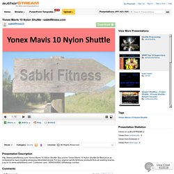 Yonex Mavis 10 Nylon Shuttle - Sabkifitness.Com