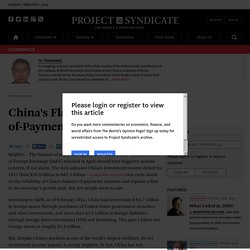 China's Flawed Balance-of-Payments Position by Yu Yongding - Project Syndic