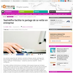 YoolinkPro facilite le partage de sa veille en entreprise