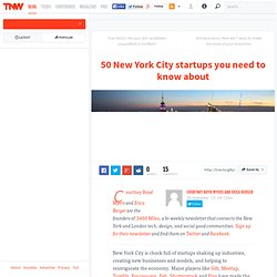 50 New York City startups you need to know about