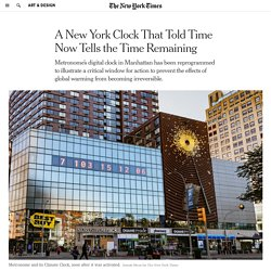 A New York Clock That Told Time Now Tells the Time Remaining