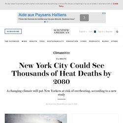 New York City Experiences Thousands of Heat Deaths
