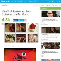 New York Restaurant Puts Instagram on the Menu