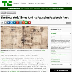 The New York Times And Its Faustian Facebook Pact