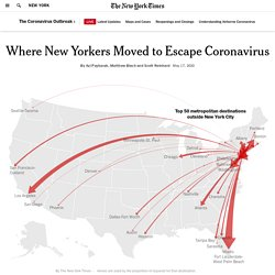 Where New Yorkers Moved to Escape Coronavirus