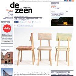 Yuki Yoshikawa accentuates Grain Chair with painted patterns