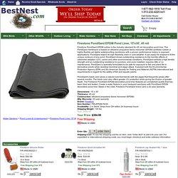 Firestone PondGard EPDM Pond Liner, 15'x30', 45 mil at BestNest.com