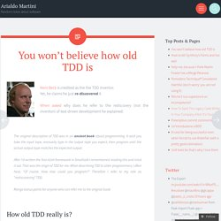 You won't believe how old TDD is