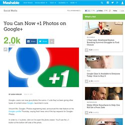 You Can Now +1 a Photo on Google+