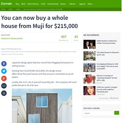 You can now buy a whole house from Muji for $215,000