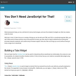 You Don't Need JavaScript for That!