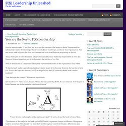 You are the Key to F(X) Leadership