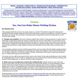 You Can Make Money Writing Fiction