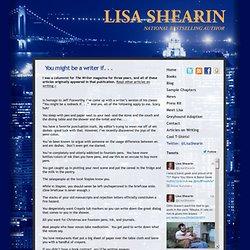 Lisa Shearin Group Book Sale Discounts: Du kan være en forfatter, hvis...