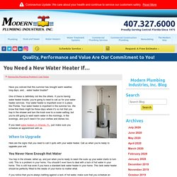 You Need a New Water Heater If…