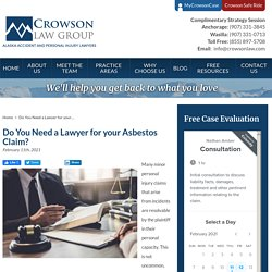 Do You Need a Lawyer for your Asbestos Claim?