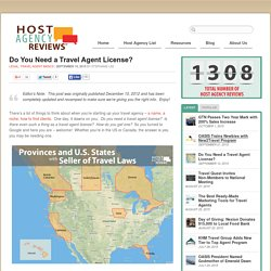 Do You Need A Travel Agent License?