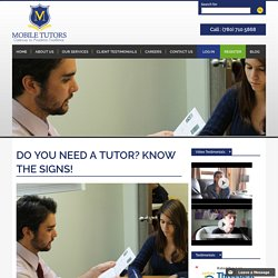 Do You Need A Tutor?