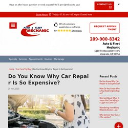 Do you want to know why car repair is so expensive?