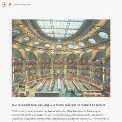 Blog - La lecture numérique sous toutes ses formes - Ne — Tout le monde n'est pas logé à la même enseigne en...