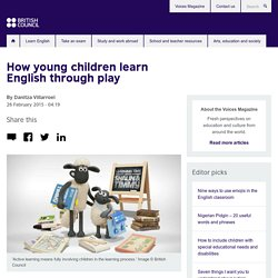 How young children learn English through play