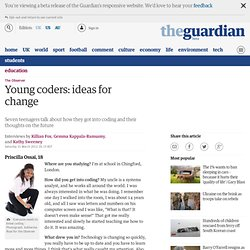 Young coders: ideas for change | Education | The Observer