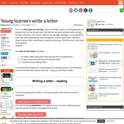Young learners write a letter