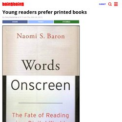 Young readers prefer printed books