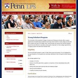 Young Scholars Program