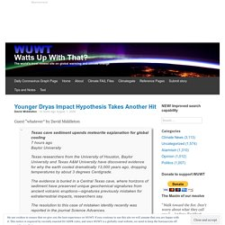 Younger Dryas Impact Hypothesis Takes Another Hit