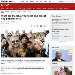 Where are the UK's youngest and oldest city populations?