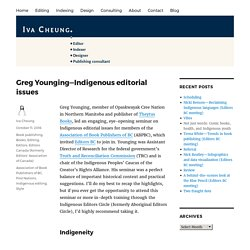 Greg Younging—Indigenous editorial issues