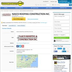 NASCO ROOFING CONSTRUCTION INC.