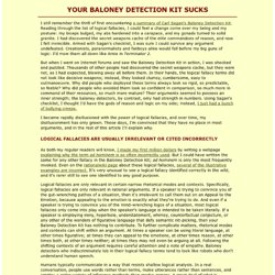 Your Baloney Detection Kit Sucks